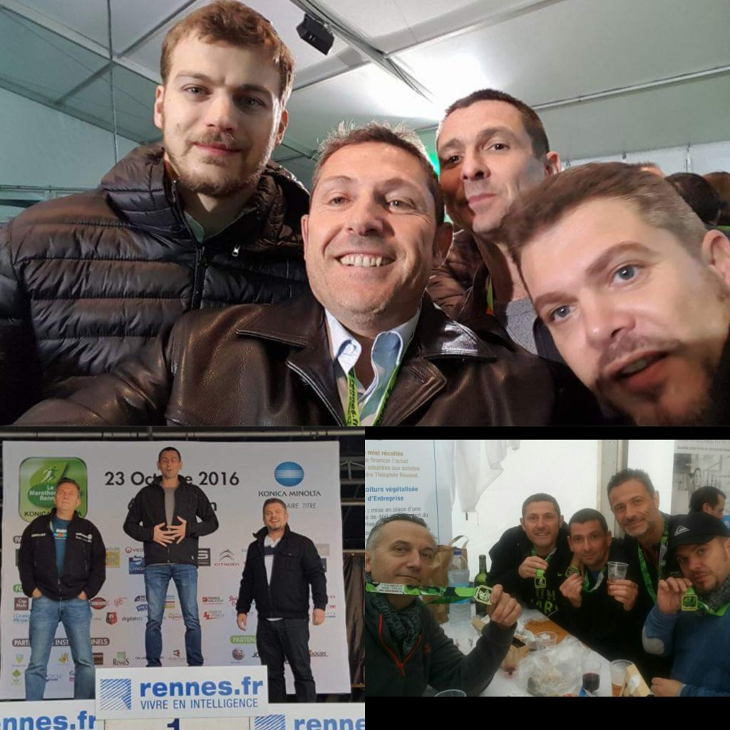 Membres de l'equipe Abysse avec Christophe LEMAITRE
