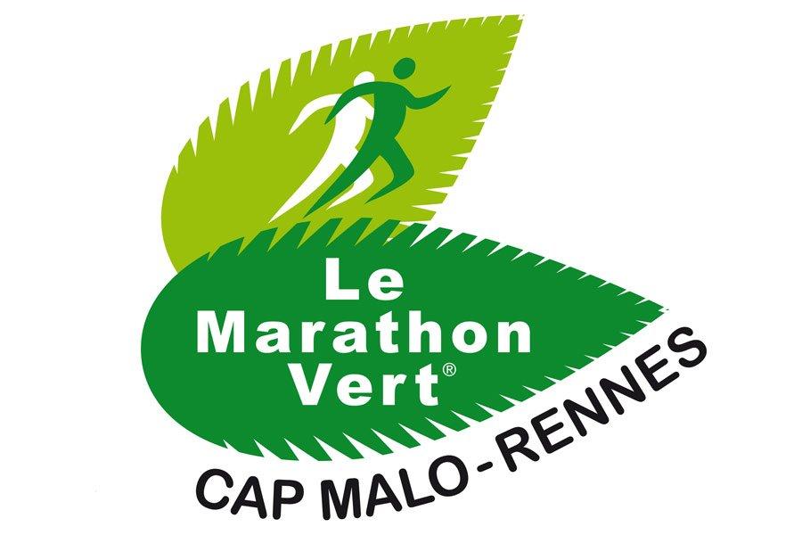 Logo marathon vert de rennes