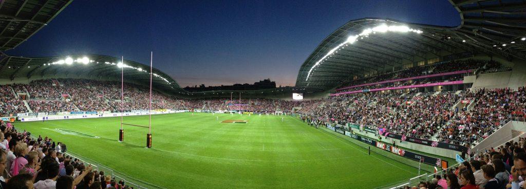 Stade Jean Bouin en panorama la nuit