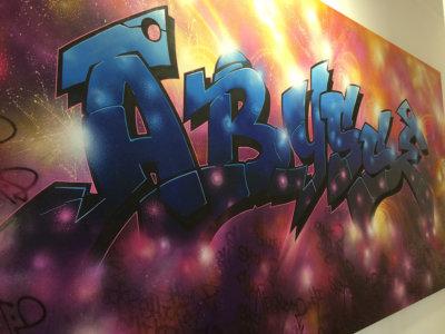 Tag effectué lors des 20 ans du Groupe Abysse par un grand artiste SHUCK